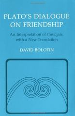 Plato's Dialogue on Friendship 0 9780801495618 080149561X