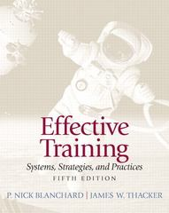 Effective Training 5th Edition 9780132729048 0132729040