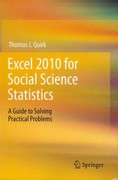 Excel 2010 for Social Science Statistics 0 9781461436362 1461436362
