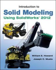 Introduction to Solid Modeling Using SolidWorks 2012 8th Edition 9780073375496 0073375497