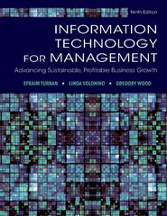 Information Technology for Management 9th Edition 9781118476567 1118476565