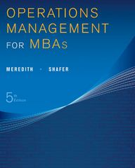 Operations Management for MBAs 5th Edition 9781118369975 1118369971