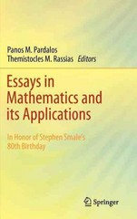 Essays in Mathematics and Its Applications 0 9783642288203 3642288200