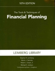 The Tools and Techniques of Financial Planning 10th edition 9781936362844 1936362848