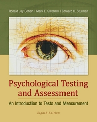 Psychological Testing and Assessment 8th Edition 9780078035302 0078035309