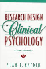 Research Design in Clinical Psychology 3rd Edition 9780205260881 0205260888
