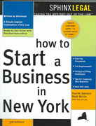 How to Start a Business in New York 3rd edition 9781572484696 1572484691