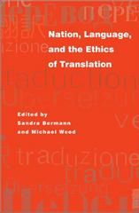 Nation, Language, and the Ethics of Translation 0 9780691116099 0691116091