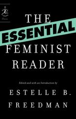 The Essential Feminist Reader 1st Edition 9780812974607 0812974603