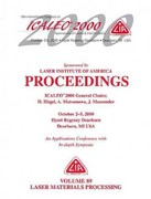 Laser Materials Processing , ICALEO 2000 Proceedings, Volume 89 0 9780912035628 0912035625
