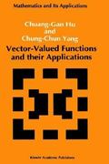 Vector-Valued Functions and Their Applications 1st edition 9780792316053 0792316053
