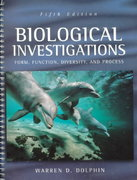 Biological Investigations (Dolphin) 5th edition 9780697360496 0697360490