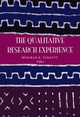 The Qualitative Research Experience, Revised Printing 1st Edition 9780534272548 0534272541