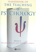 Handbook of the Teaching of Psychology 1st Edition 9781405138017 1405138017