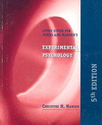 Experimental Psychology 5th edition 9780534560096 0534560091