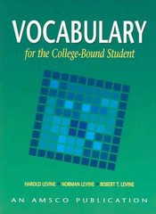 Vocabulary for the College Bound Student 4th Edition 9781567651041 1567651046