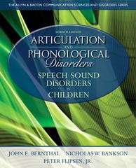 Articulation and Phonological Disorders 7th edition 9780132612630 0132612631