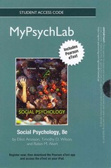 NEW MyPsychLab with Pearson eText -- Standalone Access Card -- for Social Psychology 8th edition 9780205847679 0205847676