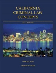 California Criminal Law Concepts 13th edition 9781256509318 1256509310