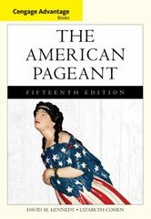 Cengage Advantage Books: The American Pageant 15th edition 9781133959724 1133959725