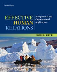 Effective Human Relations 12th Edition 9781133960836 1133960839