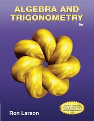Algebra & Trigonometry 9th Edition 9781133959748 1133959741