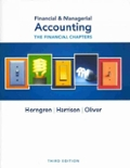 Financial and Managerial Accounting The Financial Chapters