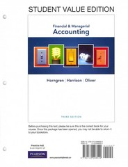 Financial & Managerial Accounting, Student Value Edition Plus NEW MyAccountingLab with Pearson eText -- Access Card Package 3rd edition 9780132962353 0132962357