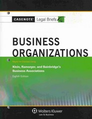 Business Organizations 8th Edition 9781454819844 1454819847