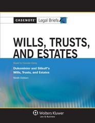Wills Trusts and Estates 9th Edition 9781454819882 145481988X