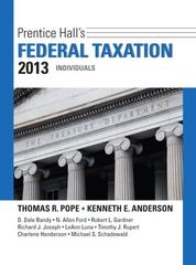 Prentice Hall's Federal Taxation 2013 Individuals 26th edition 9780132891370 0132891379