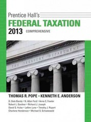 Prentice Hall's Federal Taxation 2013 Comprehensive 26th edition 9780132891646 0132891646
