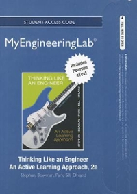 NEW MyEngineeringLab with Pearson eText -- Access Card -- for Thinking Like an Engineer: An Active Learning Approach 2nd edition 9780132766746 0132766744