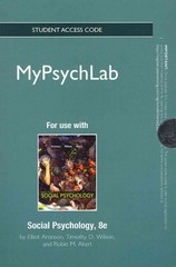 NEW MyPsychLab -- Standalone Access Card -- for Social Psychology 8th edition 9780205847686 0205847684