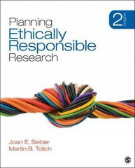 Planning Ethically Responsible Research 2nd Edition 9781452202594 1452202591