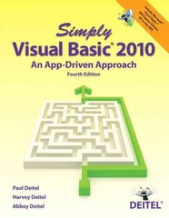 Simply Visual Basic 2010 4th Edition 9780132990608 0132990601