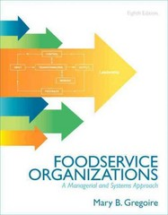 Foodservice Organizations 8th Edition 9780132620819 0132620812
