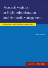 Research Methods in Public Administration and Nonprofit Management 3rd Edition 9780765631329 0765631326