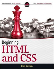 Beginning HTML and CSS 1st Edition 9781118340189 1118340183