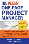 The New One-Page Project Manager 2nd Edition 9781118378373 1118378377