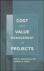 Cost and Value Management in Projects 1st edition 9780470069134 0470069139