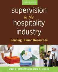 Supervision in the Hospitality Industry 6th edition 9780470077832 0470077832