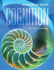 Cognition 7th Edition 9780470087640 0470087641