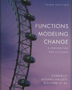 Functions Modeling Change 3rd edition 9780470132043 0470132043