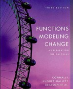 Functions Modeling Change 3rd edition 9780470147696 0470147695