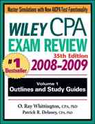 Wiley CPA Examination Review, Outlines and Study Guides 35th edition 9780470278932 0470278935