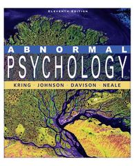 Abnormal Psychology 11th edition 9780470380086 047038008X