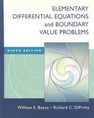 Elementary Differential Equations and Boundary Value Problems 9th Edition 9780470383346 0470383348
