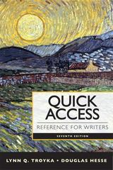 Quick Access Reference for Writers with NEW MyCompLab with eText -- Access Card Package 7th edition 9780321846181 0321846184