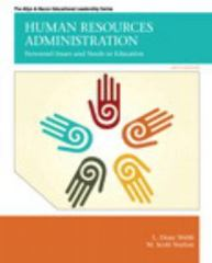 Human Resources Administration: Personnel Issues and Needs in Education 6th Edition 9780132678094 0132678098